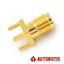 Female PCB Straight Mount Gold Plated RF Connector (SMA-KE)