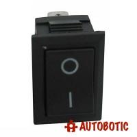 3-Pin KCD1-102 On/Off Rocker Switch SPDT 6A/250V (Black)