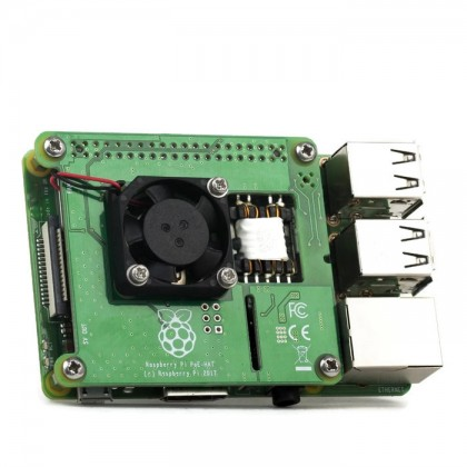 Power over Ethernet (PoE) HAT for Raspberry Pi 4 & 3B+