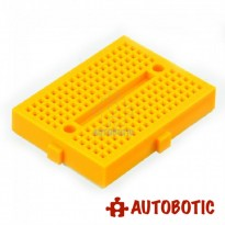 Mini Breadboard 170 Holes 45mmx35mm (Yellow)