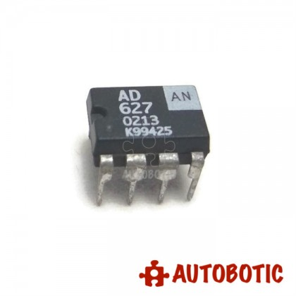 DIP-8 Integrated Circuit IC (AD627AN) Rail to Rail Instrumentation Amplifier