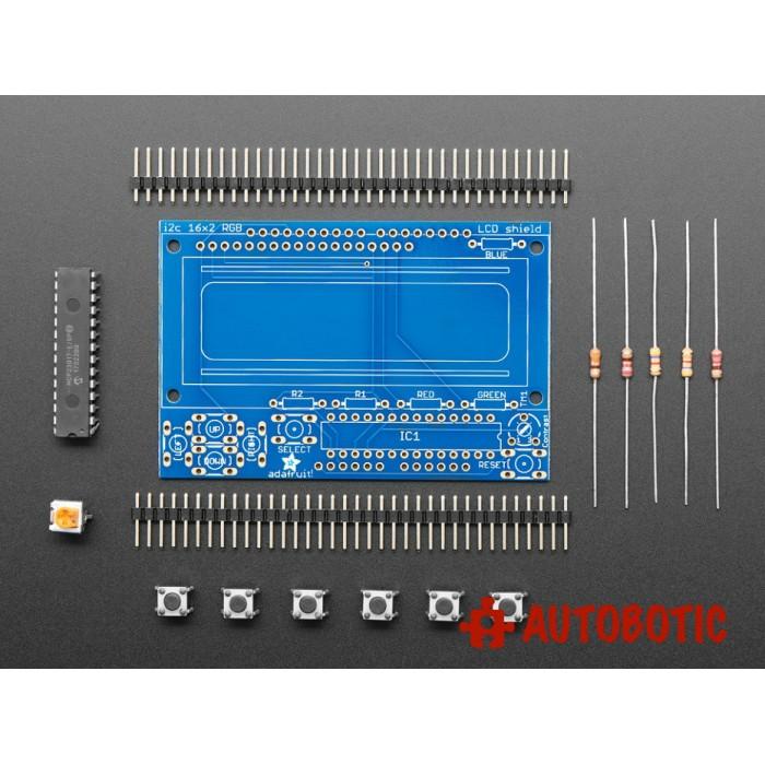 Adafruit I2C Controlled + Keypad Shield Kit for 16x2 LCD