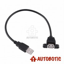 USB Extension Cable - Type A Male to Type A Female (Panel Mount)