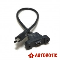 USB Extension Cable - Type Mini B Male to Type Mini B Female (Panel Mount)