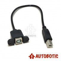 USB Extension Cable - Type B Male to Type B Female (Panel Mount)