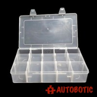 Single Layer Plastic Storage Tool Box (15 Grid)