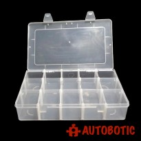 Single Layer Plastic Storage Tool Box (15 Grid)