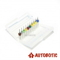 10pcs Mini PCB Drill Bit (0.1 to 1mm)