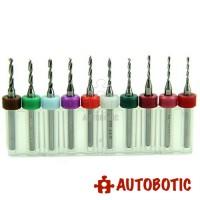 10pcs Mini PCB Drill Bit (1.1 to 2mm)