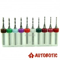 10pcs Mini PCB Drill Bit (1.1 to 2mm)