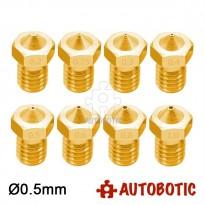 3D Printer 1.75mm Filament E3D V6 Brass Extruder Nozzle (0.5mm)