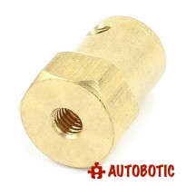 Hex Brass Mini Wheel Coupling (6mm)