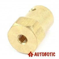 Hex Brass Mini Wheel Coupling (8mm)