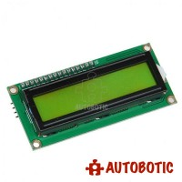 I2C 16x2 Arduino LCD Display Module - Black on Yellow 5V (1602A)