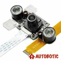 Arducam NOIR Camera for Raspberry Pi - IR Cut Filter Auto Switch for Daylight Accuracy, LED IR Illuminator for Night Vision, OV5647 5MP 1080P (B003503)