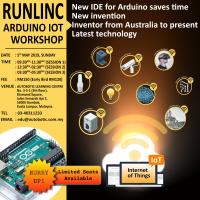 NEW IDE FOR ARDUINO: RUNLINC ARDUINO IoT WORKSHOP (NEW INVENTION)