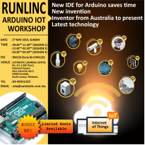 NEW IDE FOR ARDUINO: RUNLINC ARDUINO IoT WORKSHOP (NEW INVENTION)