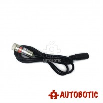 Round 12mm Line Laser Diode - 5mW 650nm Red Laser Pointer with DC Female Adapter