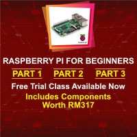 Raspberry Pi for Beginners Part 1, 2 & 3: 16 Lessons (40 Credits)