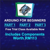 Arduino for Beginners Part 1, 2 & 3: 16 Lessons (32 Credits)
