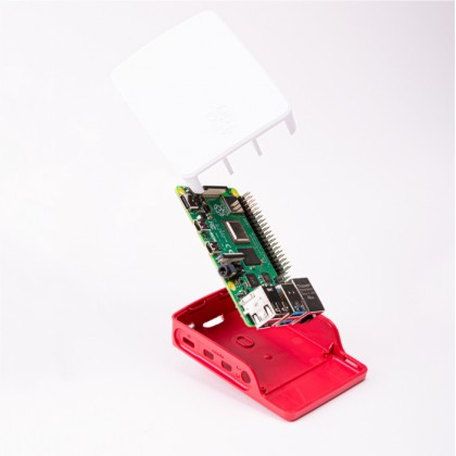 Raspberry Pi 4 Model B Official Casing (Made in UK) Red/White