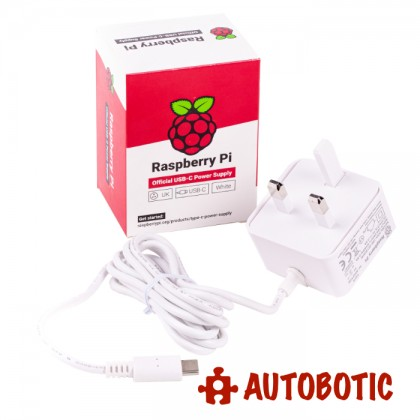 Official Power Adapter for Raspberry Pi 4 15W (DC 5V, 3A) UK Plug + 1 Yr Warranty