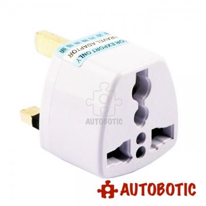 UK 3 Pin Travel Socket Adapter (China to Malaysia Plug)