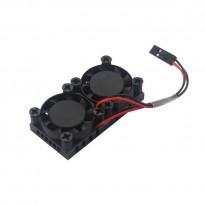 Raspberry Pi 4 Dual Fan Heatsink Cooling Kit
