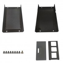 Black Aluminum Alloy Casing for Raspberry Pi 4 with Fan