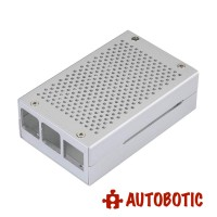 Silver Aluminum Alloy Casing for Raspberry Pi 4 with Fan