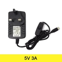 AC to DC Power Adapter 5V 3A Output Type C (UK Plug) Raspberry Pi 4