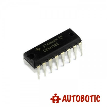 DIP-16 Integrated Circuit IC (CD4015BE) CMOS Dual 4-Stage Static Shift Register