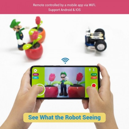 UCTRONICS WiFi Robot Car Kit for Kids and Teens to Build with Camera UCBOT STEM Education Electronics Smart Programmable DIY Coding Car Controlled by Android & iOS Smartphone, Arduino Compatible