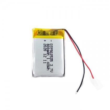 LiPo Rechargeable Battery 3.7V 400mAH