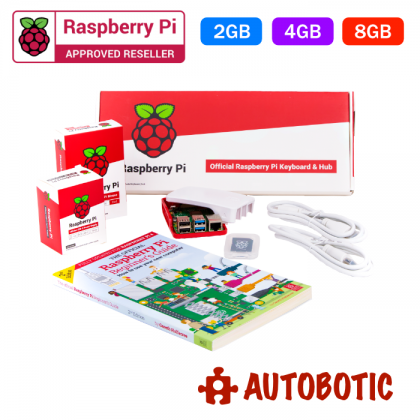 Official EU Raspberry Pi 4 Desktop Kit (4GB) + 1 Yr Warranty + Free Official RPi Red Ceramic Mug from UK (While Stock Last)
