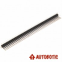 40 Pin 2.54 mm Single Row Right Angle Pin Male Header