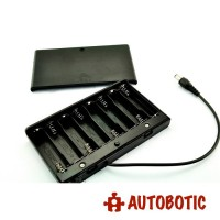8AA Battery Holder + Wire Leads + Switch + Cover + DC Power Jack