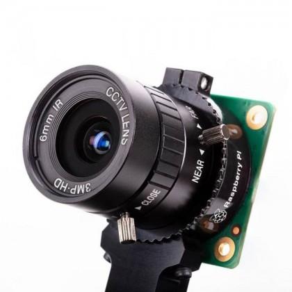 Raspberry Pi 6mm Camera Lens (Wide Angle) CS Mount for RPI HQ Camera