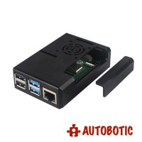 Black ABS Casing with Fan for Raspberry Pi 4 with GPIO Slot
