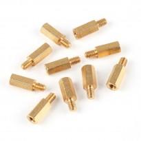 Brass Stud M4x16+6 (10-Pack)