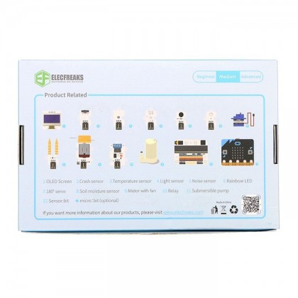 Complete Set - Elecfreaks micro:bit Smart Home Kit with micro:bit + Free Acrylic House Model + Keychain [READY STOCK]
