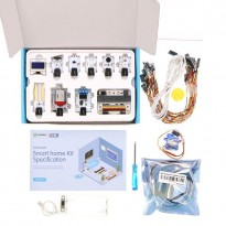 Complete Set - Elecfreaks micro:bit Smart Home Kit with micro:bit + Free Acrylic House Model + Keychain