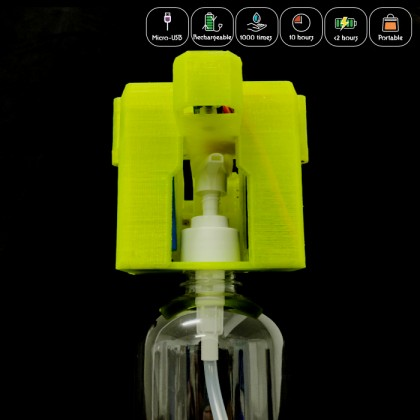 3D Printed Automated Hand Sanitizer (Free Bottle)