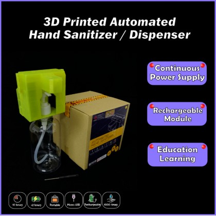 3D Printed Automated Hand Sanitizer / Dispenser w/Free Bottle [PROMO PRICE]