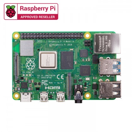 Combo Raspberry Pi 4 Model B (8GB) with Case Fan & Official Casing (Black)
