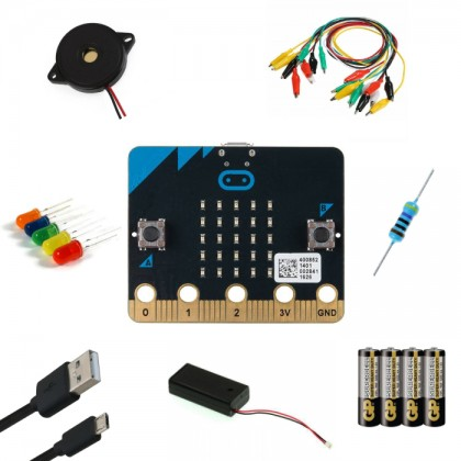 Complete Set - Micro:bit Kit + Free Battery [PROMO PRICE]