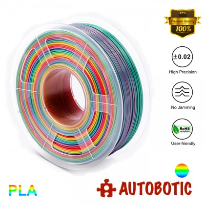 3D Printer 1.75mm PLA Filament 1KG (Rainbow) [READY STOCK]
