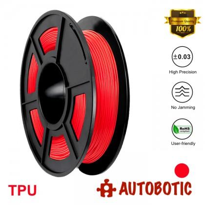 3D Printer 1.75mm TPU Flexible Filament 0.5KG (Red) [READY STOCK]