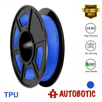 3D Printer 1.75mm TPU Flexible Filament 0.5KG (Blue) [READY STOCK]