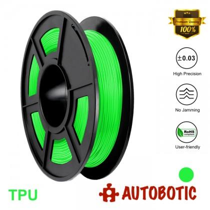3D Printer 1.75mm TPU Flexible Filament 0.5KG (Green) [READY STOCK]
